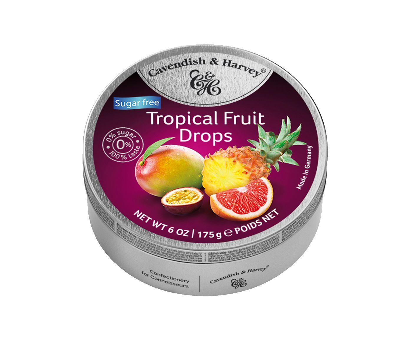 Bala Alemã Cavendish & Harvey Sugar Free Tropical Fruit Drops - 175G | Westwing.com.br