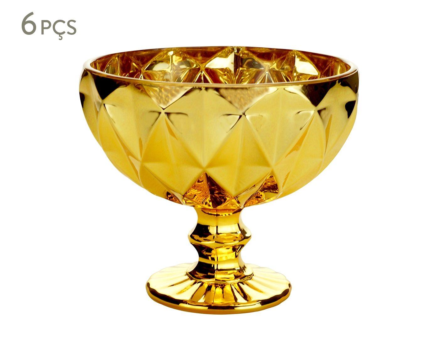 Jogo de Taças Diamond Dourado - 310ml | Westwing.com.br