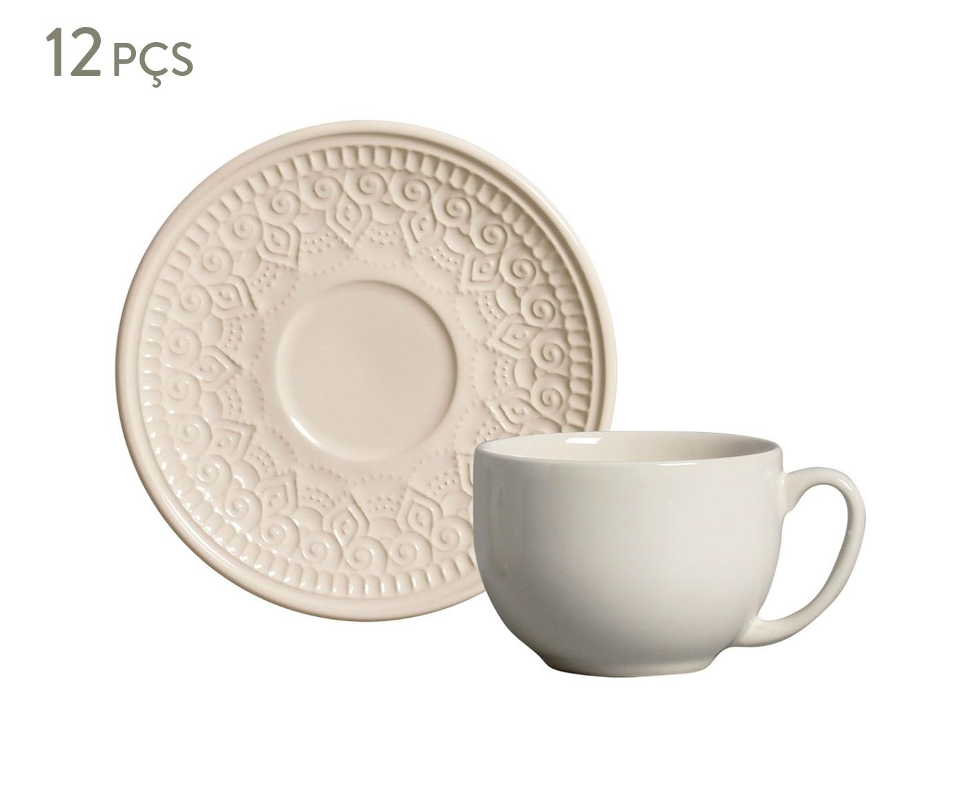Jogo de Xícaras para Chá com Pires Agra Cru - 260ml | Westwing.com.br