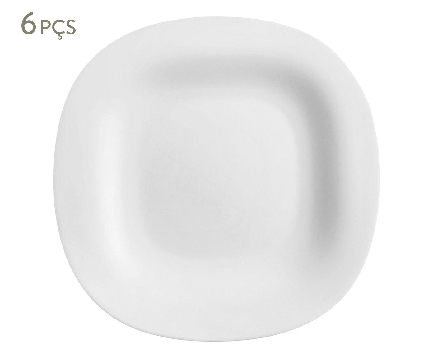 Jogo de Pratos para Sobremesa Carine Branco - 19,5X1,8cm   Westwing.com.br