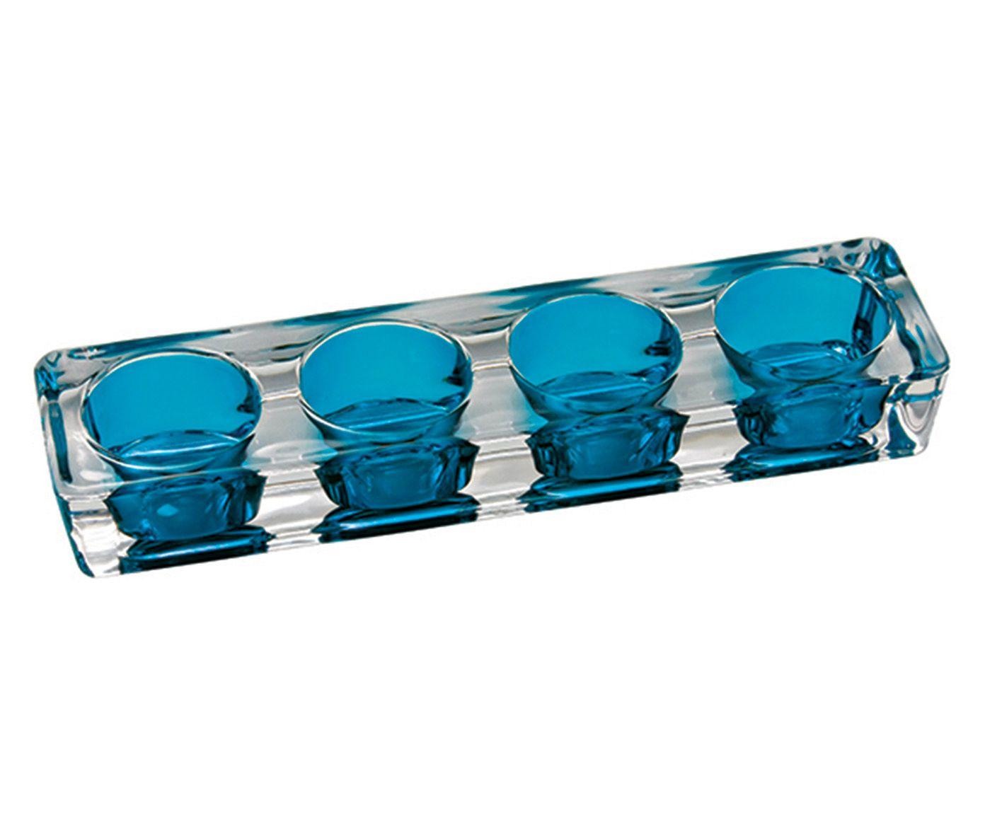 Porta-Vela Glass Azul - 23X3X6cm | Westwing.com.br