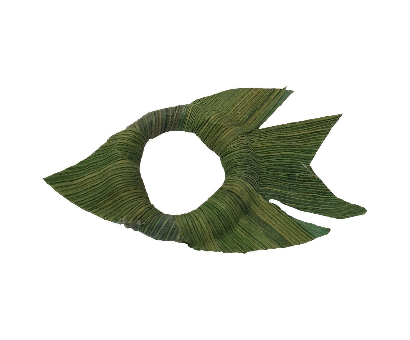 Anel para Guardanapo Peixe Palha Verde - 12X6cm   Westwing.com.br