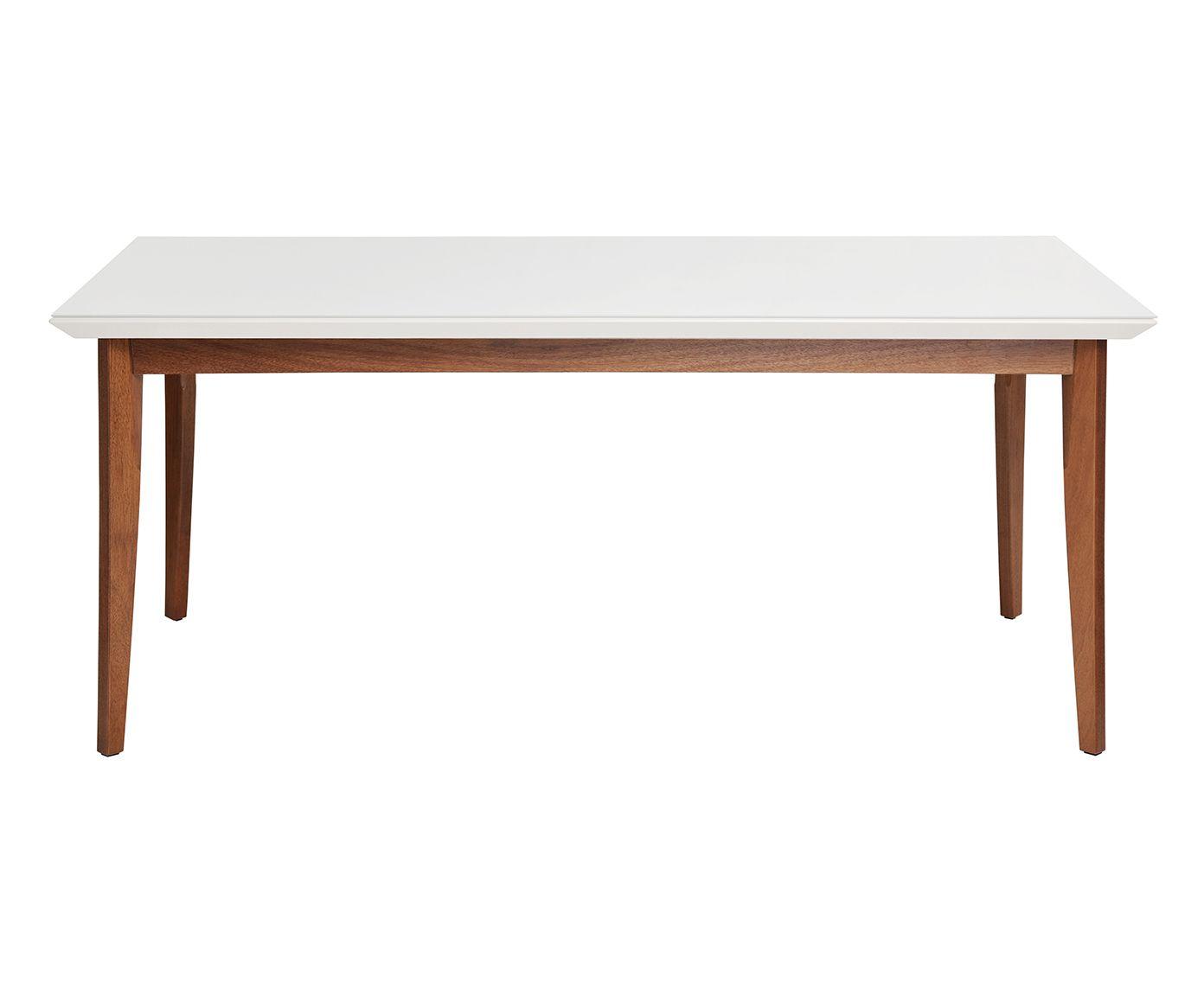 Mesa de Jantar Lauren Branca Gloss - 160X78cm | Westwing.com.br