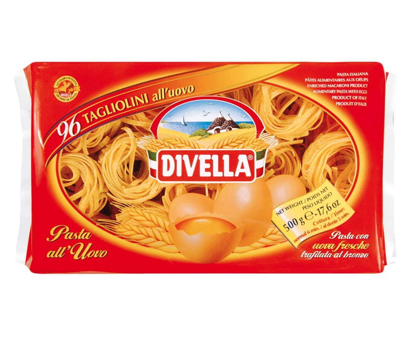 Massa Divella N° 096 Tagliolini All'Uovo - 500G | Westwing.com.br