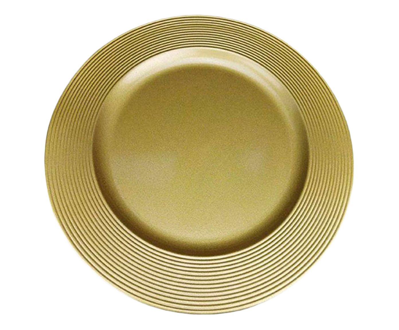Sousplat Disco Dourado - 33cm | Westwing.com.br