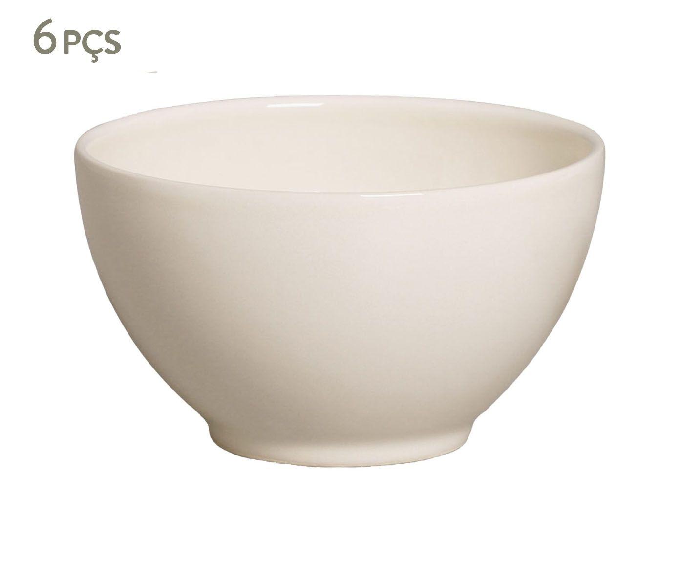 Jogo de Bowls Liso Cru - 587ml   Westwing.com.br