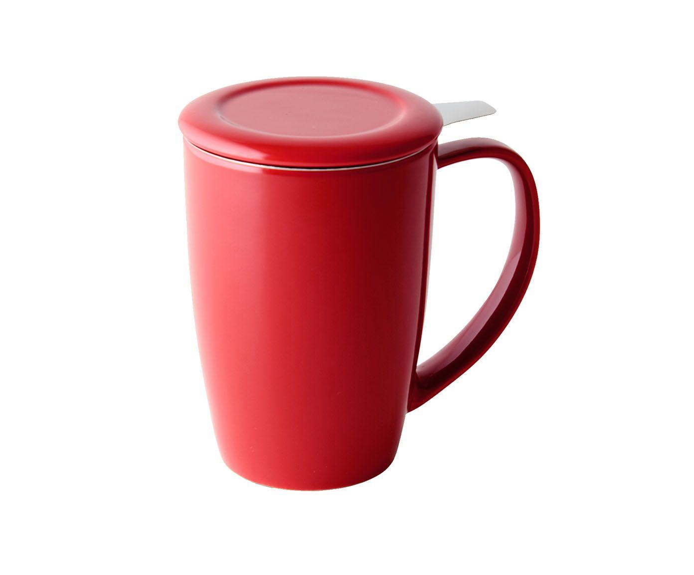 Caneca em Porcelana Curvy Vermelho - 433ml | Westwing.com.br