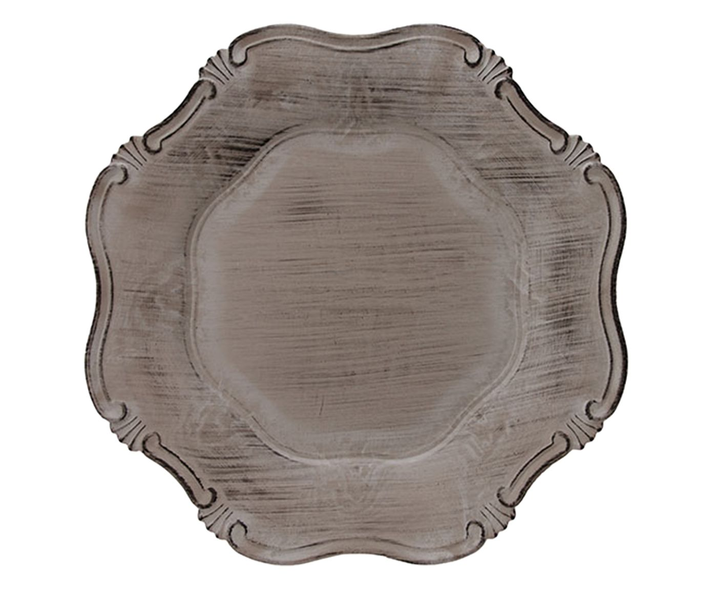 Sousplat Grego Corinto Taupe - 33cm | Westwing.com.br