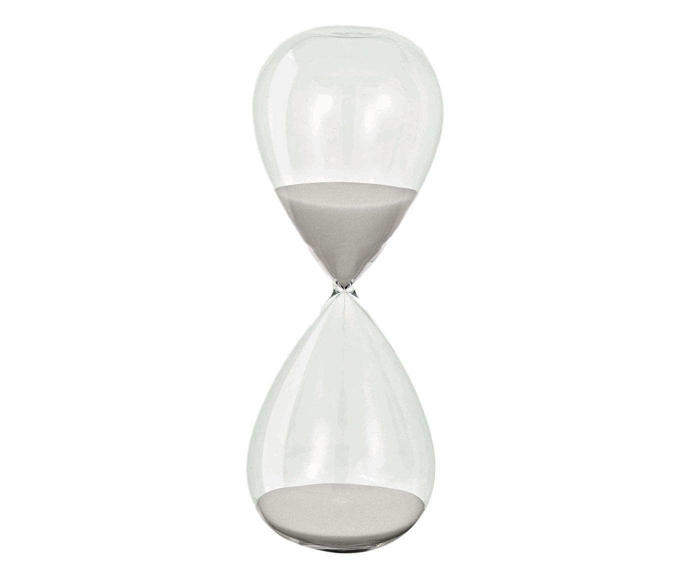 Ampulheta Decorativa Time After Time Branca - 20X8cm | Westwing.com.br