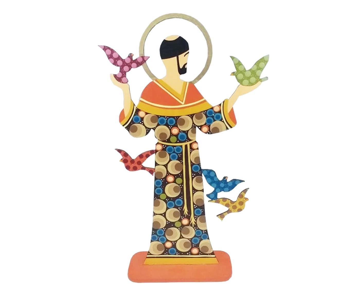 Escultura São Francisco Colorido - 14X35X5cm | Westwing.com.br
