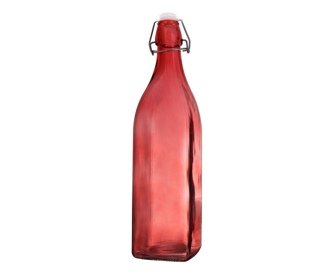 Garrafa Quadrada Vermelha - 1L   Westwing.com.br