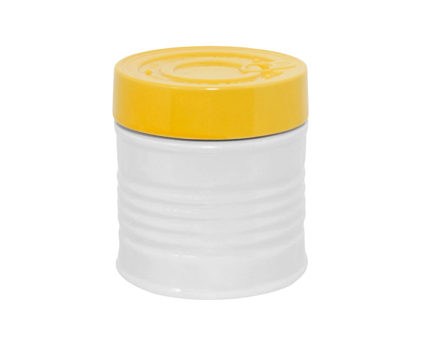 Pote Can Lata Amarelo e Branco - 700ml | Westwing.com.br