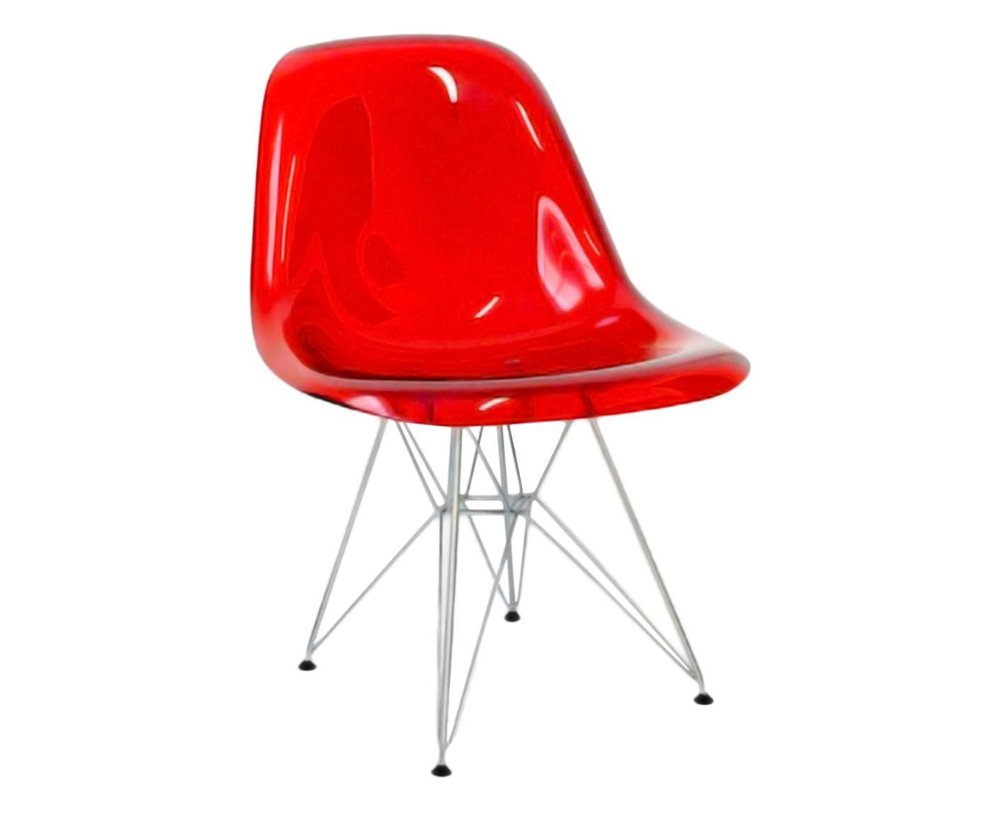 Cadeira Eames Lagreca Smooth - Vermelha | Westwing.com.br
