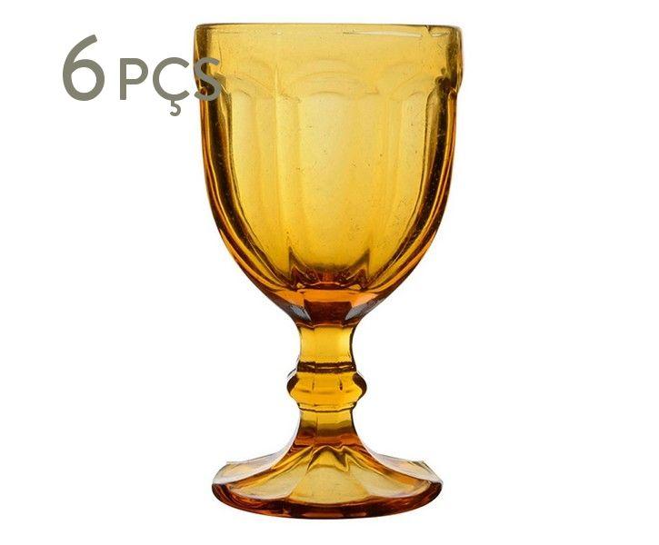 Jogo de Taças para Água Pricilla Âmbar - 340ml | Westwing.com.br