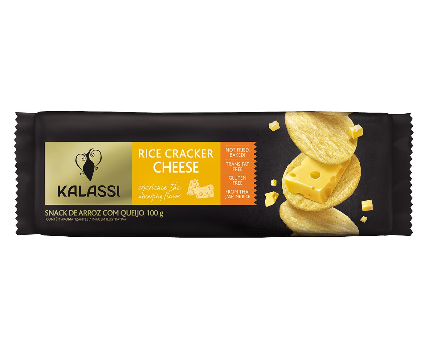 Snack Tailandês Kalassi Rice Crackers Cheese - 100G | Westwing.com.br