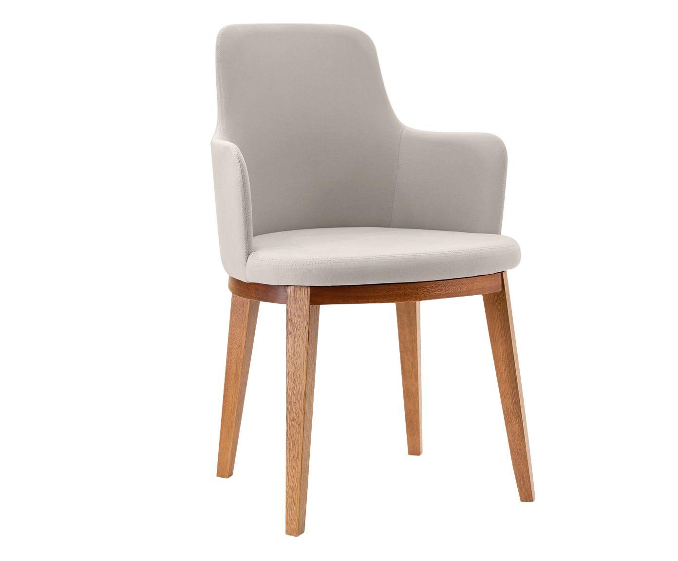 Cadeira em Linho Mary Creme - 55X86cm | Westwing.com.br