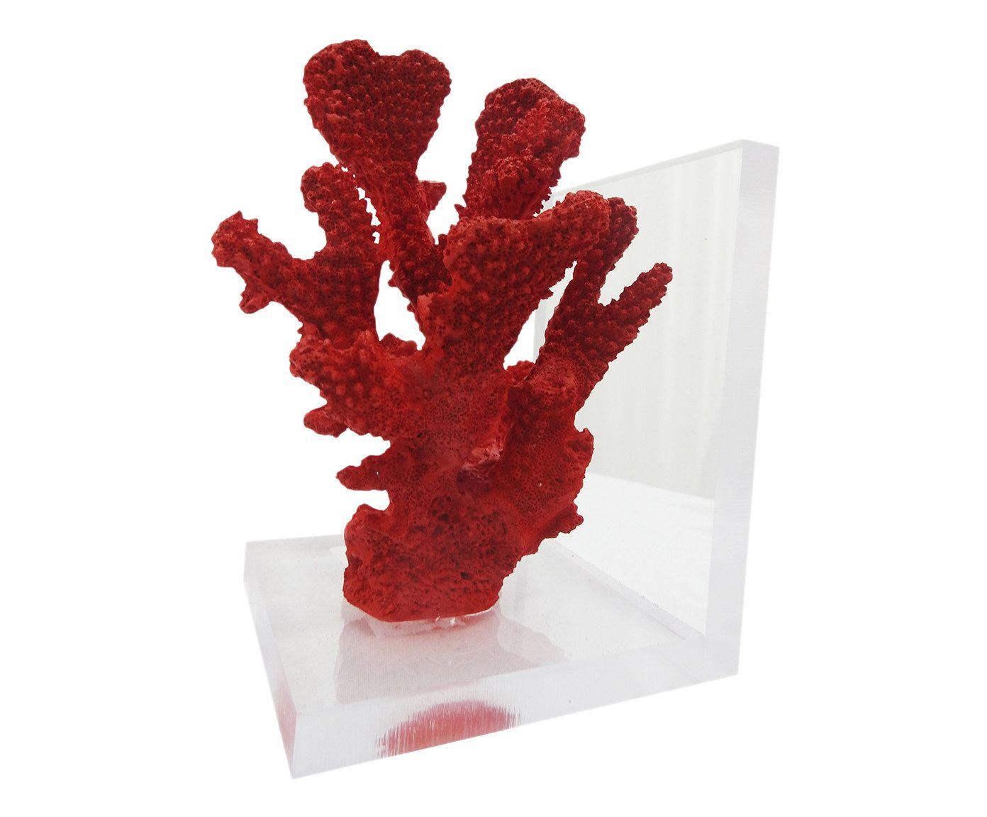 Aparador para Livros Coral Heidi Vermelho - 12X18X10cm | Westwing.com.br