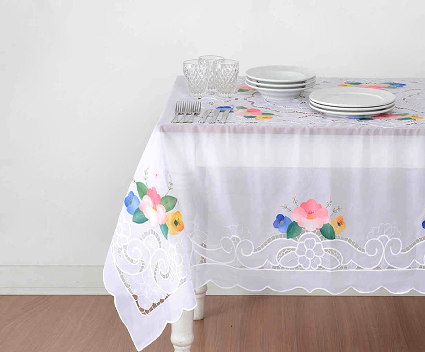 Toalha de Mesa Alexis Branca - 180X350cm | Westwing.com.br