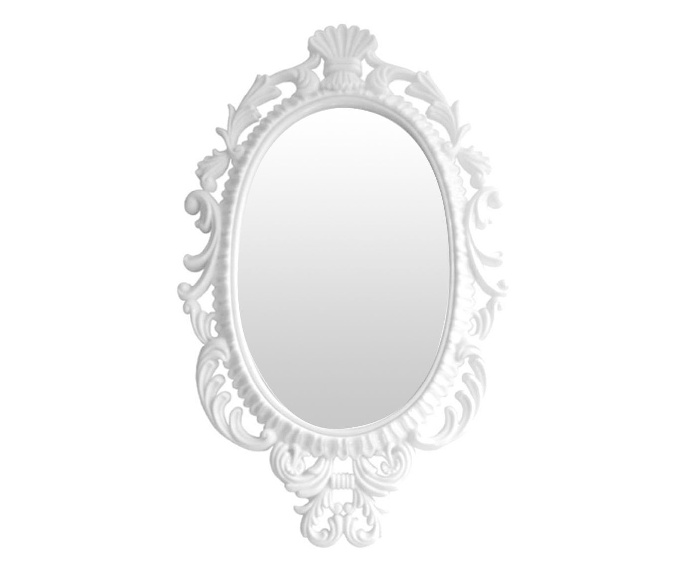 Espelho com Moldura Princess Snow Branco - 44X73cm | Westwing.com.br