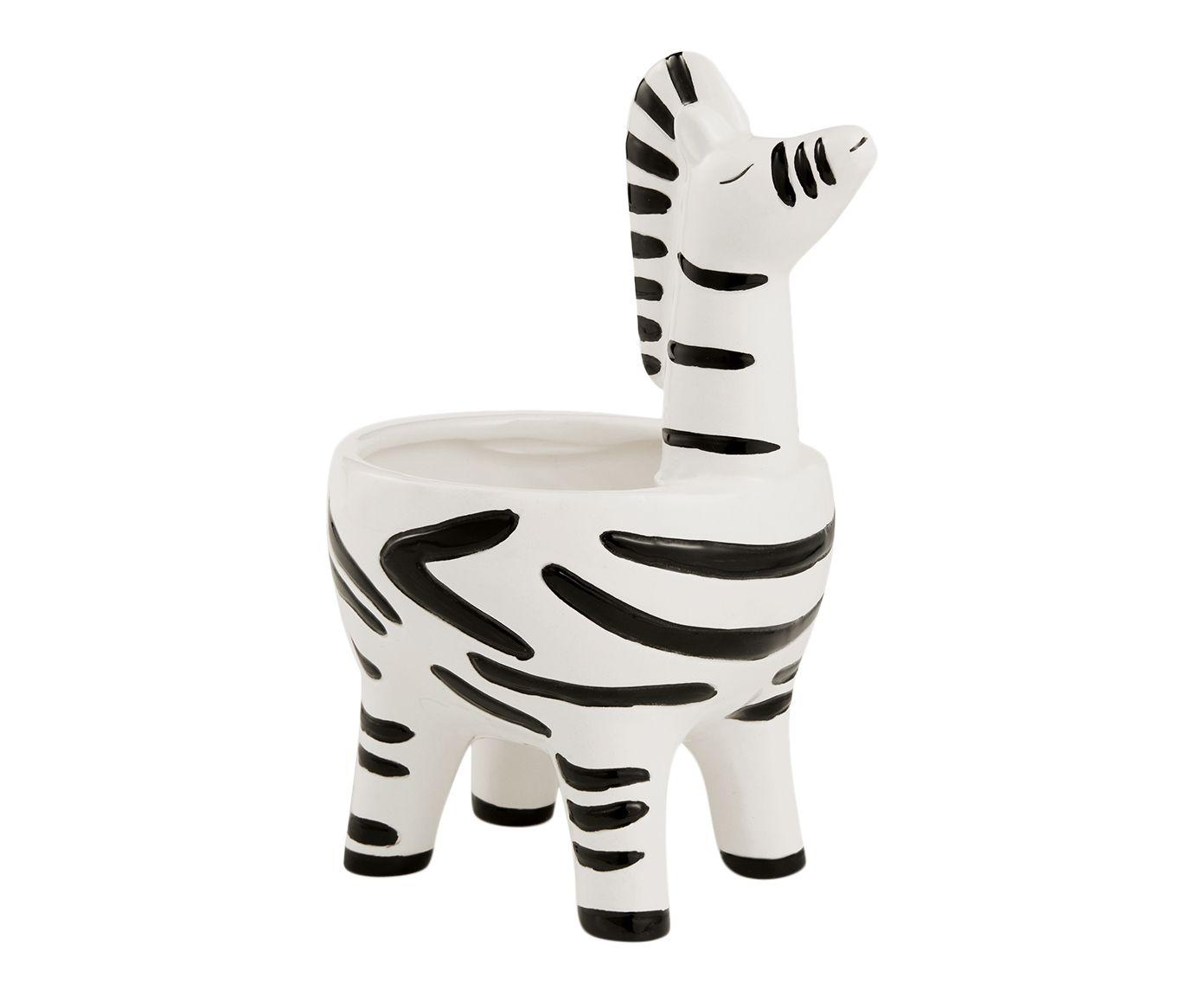 Cachepot Zebra - 10X17,5X12cm   Westwing.com.br
