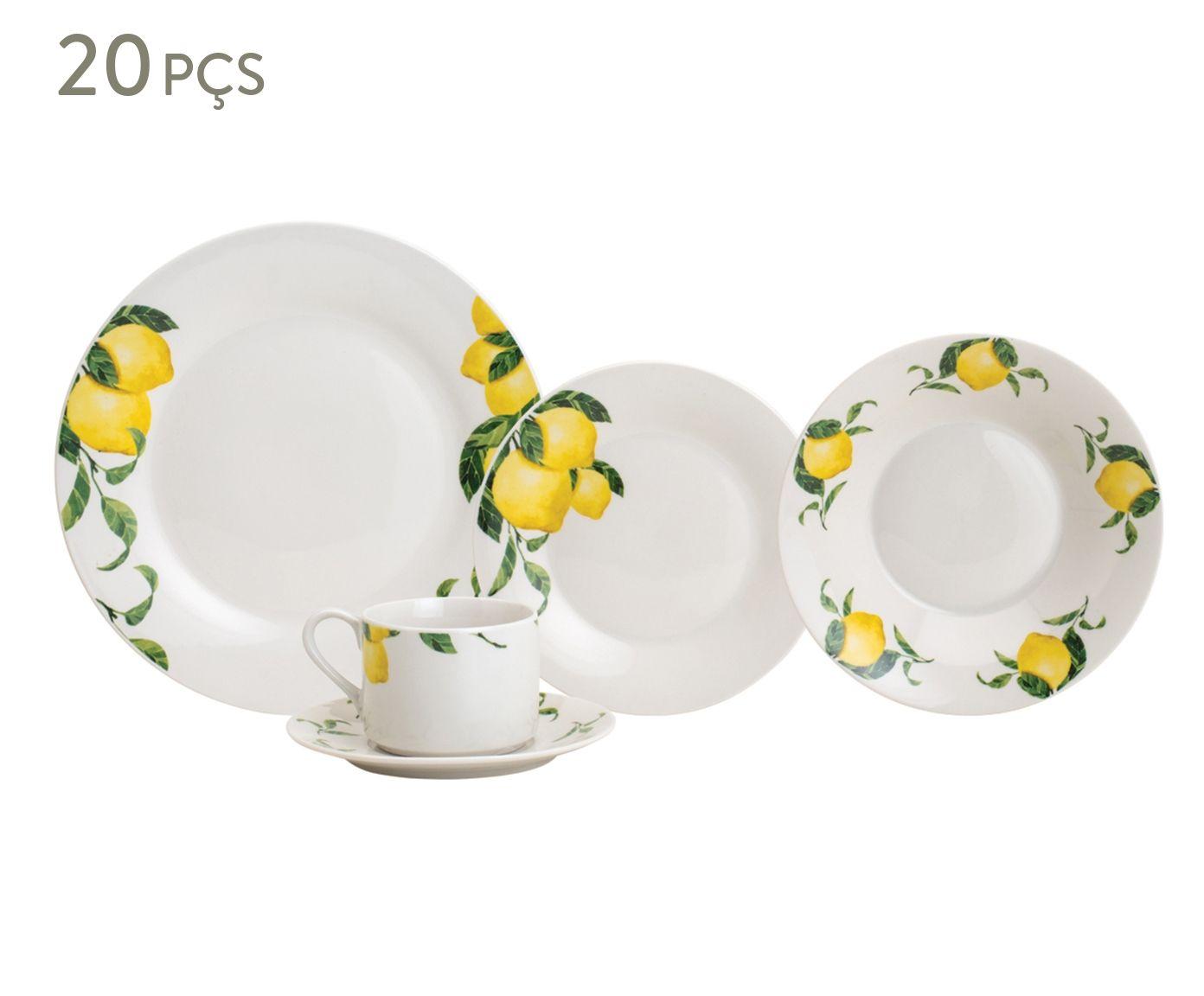 Jogo de Jantar em Porcelana Sicilian Lemon - 04 Pessoas | Westwing.com.br