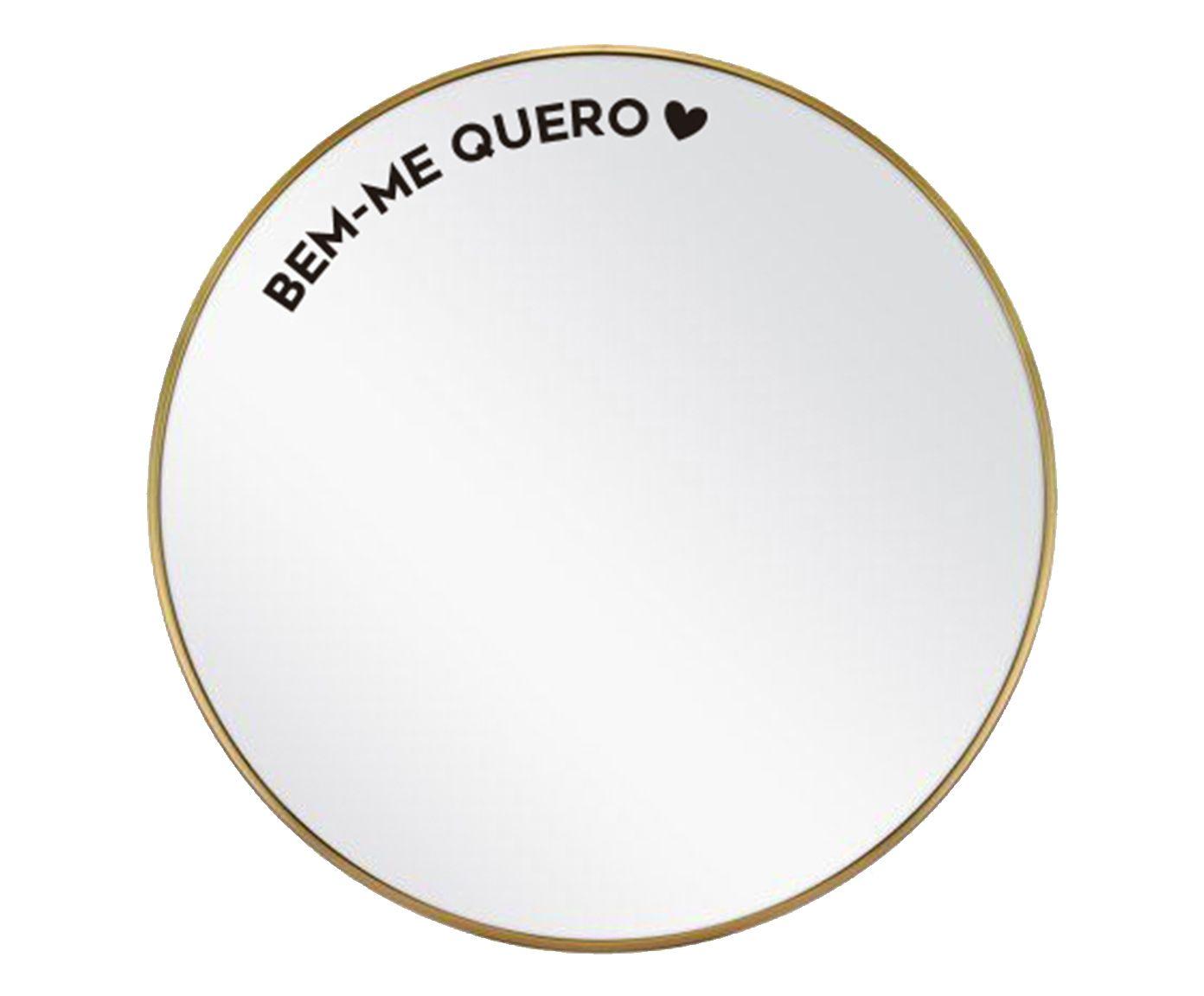 Espelho Bem-Me Quero Dourado - 60cm | Westwing.com.br
