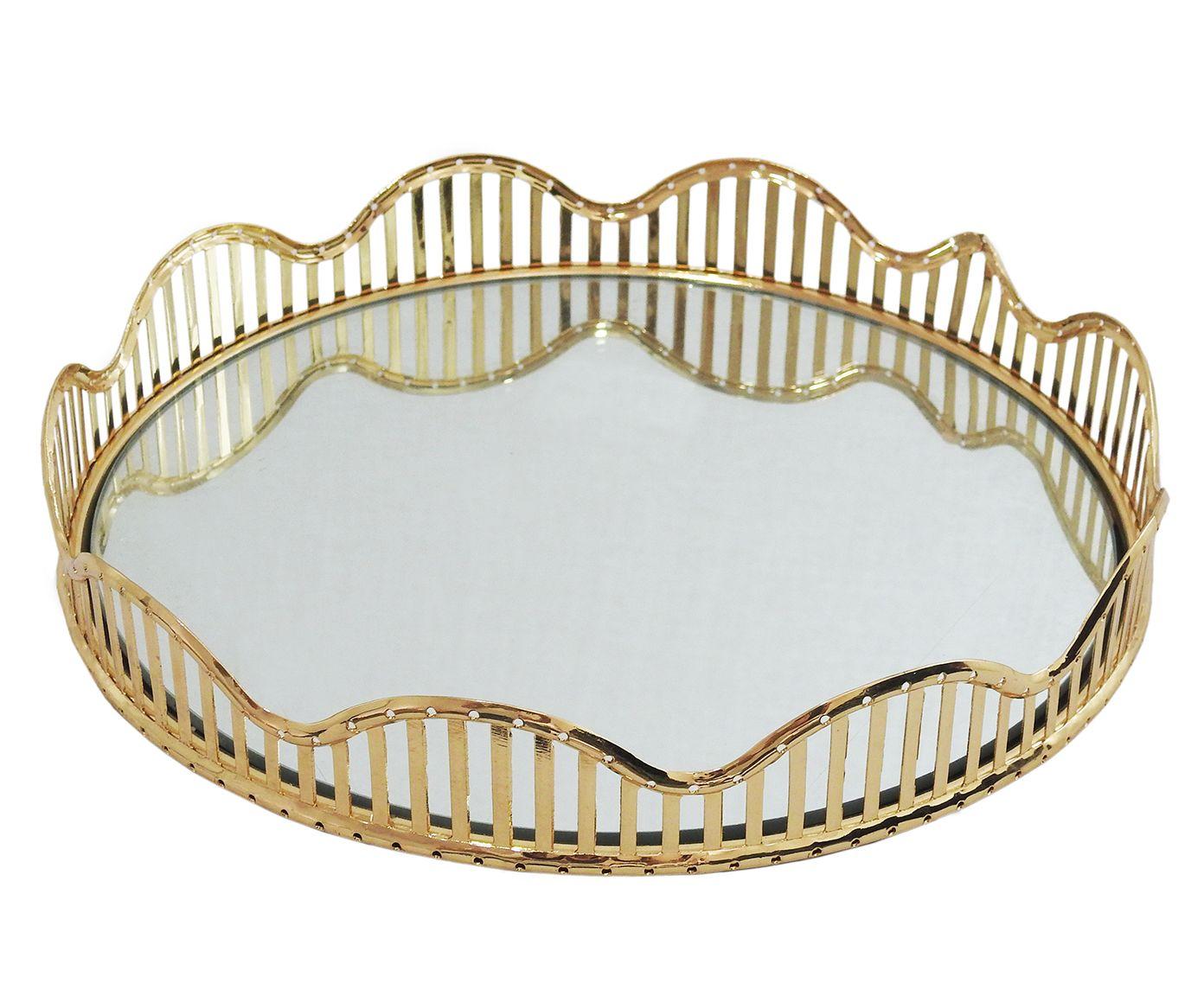 Bandeja Decorativa Jessie Dourada - 28cm | Westwing.com.br