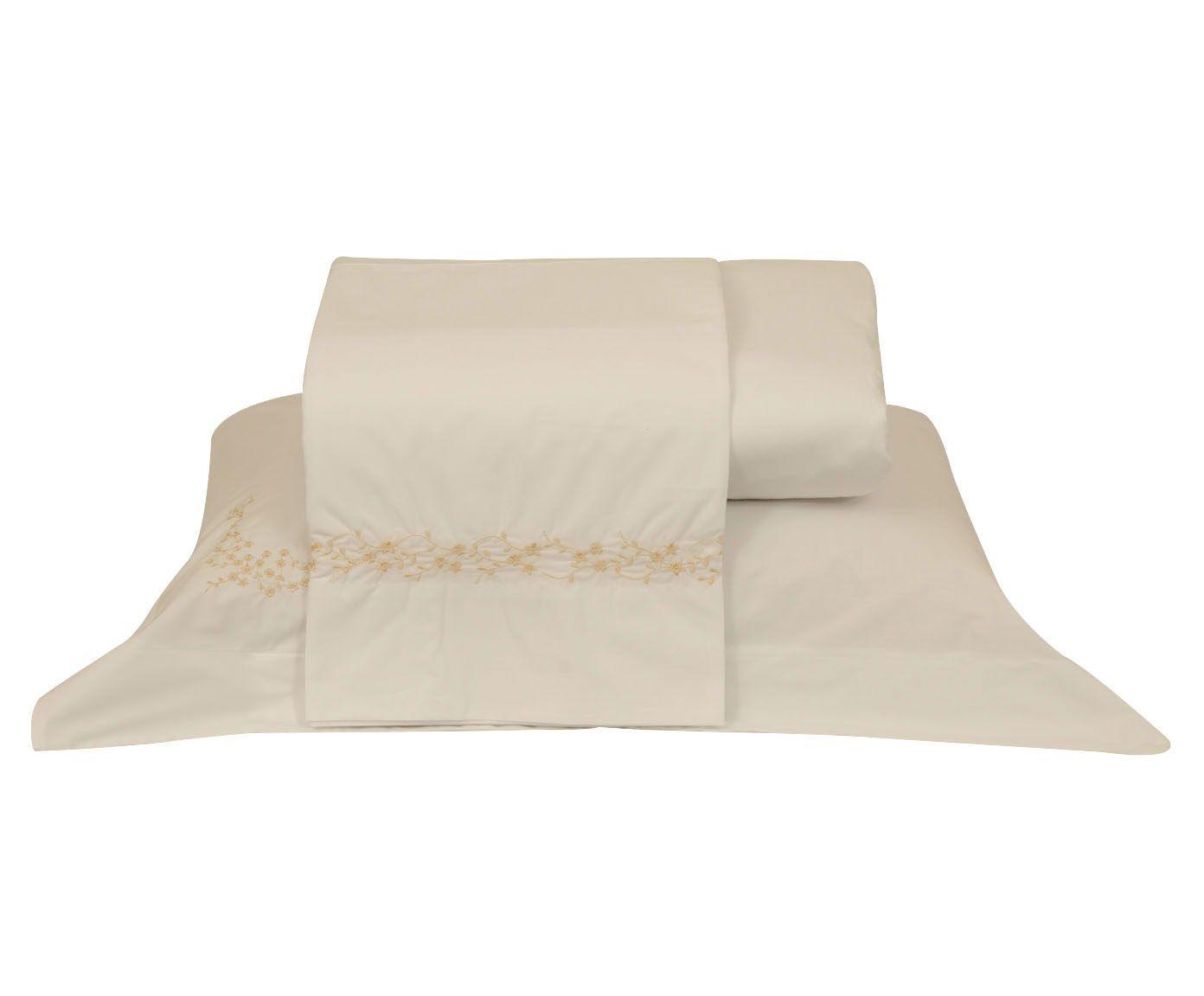 Jogo de lençol daya para cama queen size 200 fios   Westwing.com.br