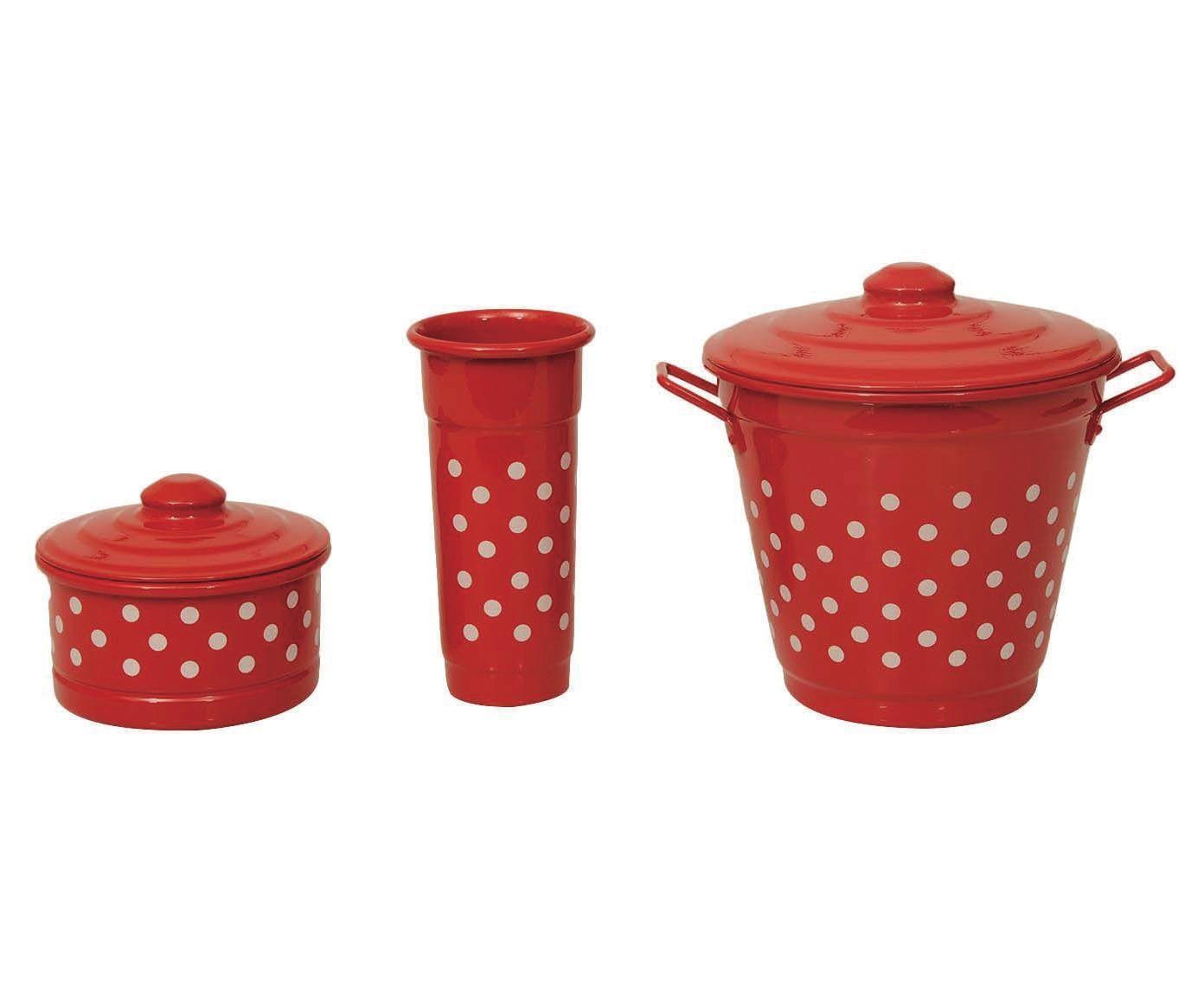 Jogo para Pia Polka Dots - Vermelho e Branco | Westwing.com.br
