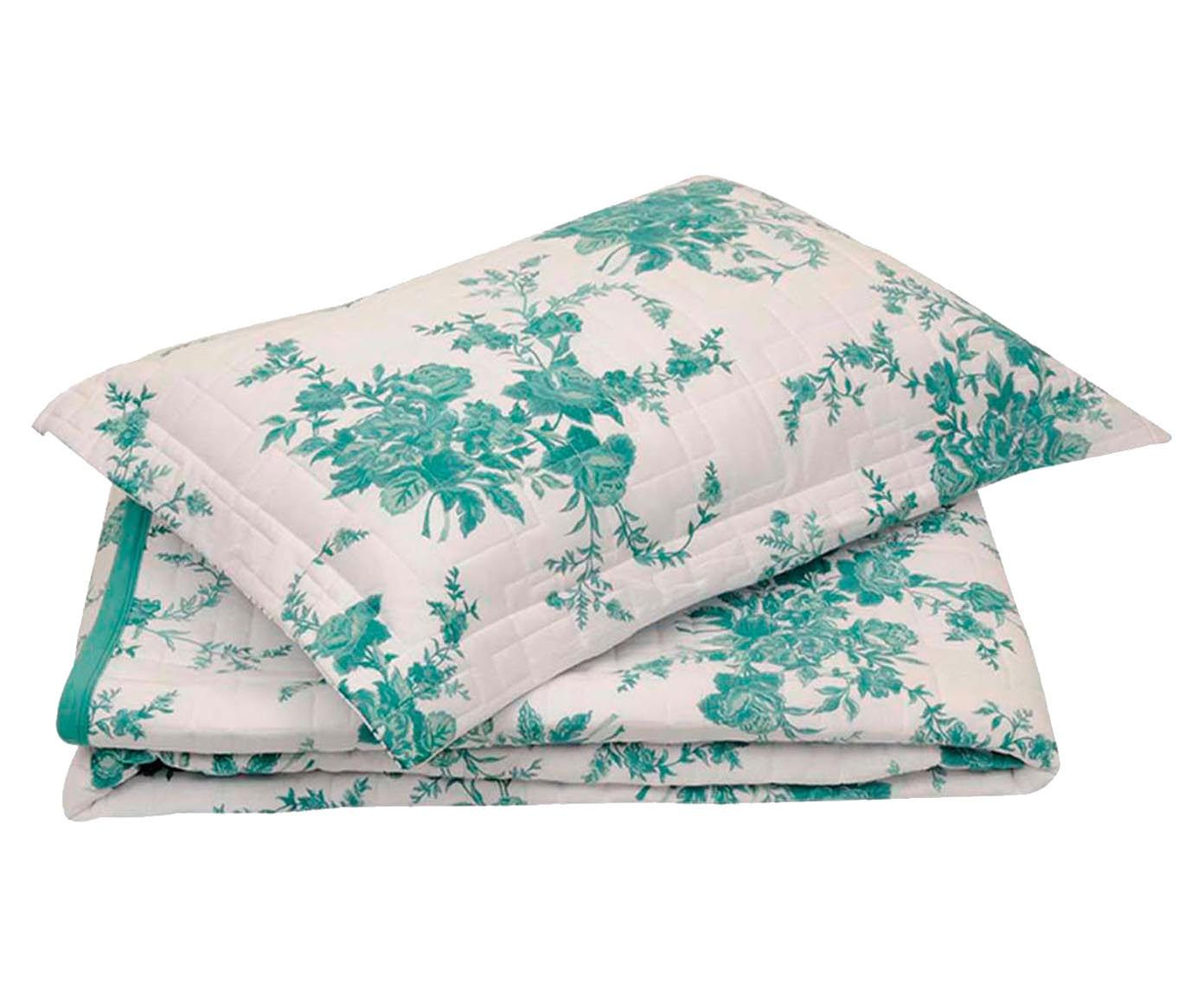 Conjunto de cobre-leito bouquet - para cama queen size   Westwing.com.br