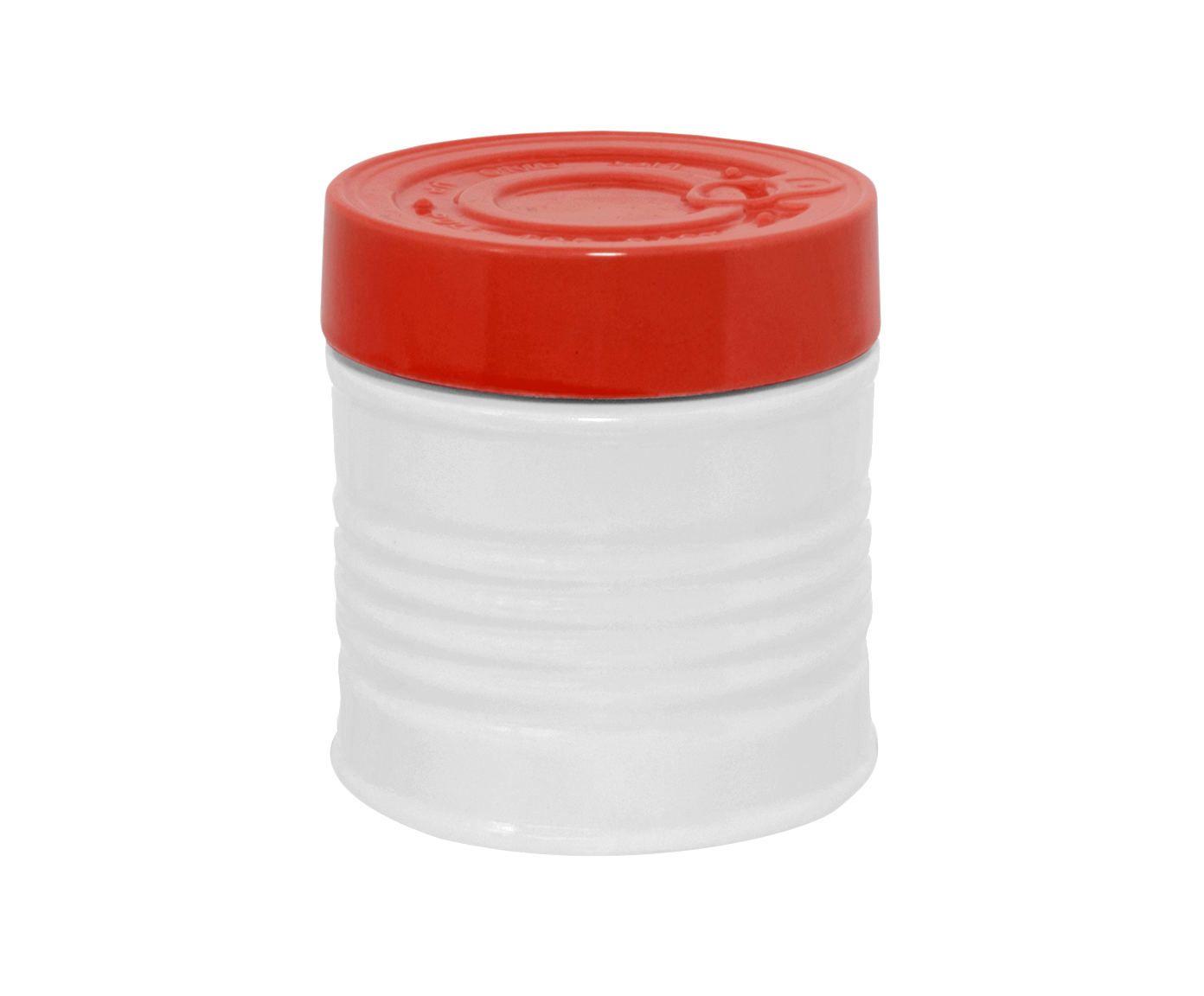 Pote com Tampa Can Vermelho e Branco - 700ml   Westwing.com.br