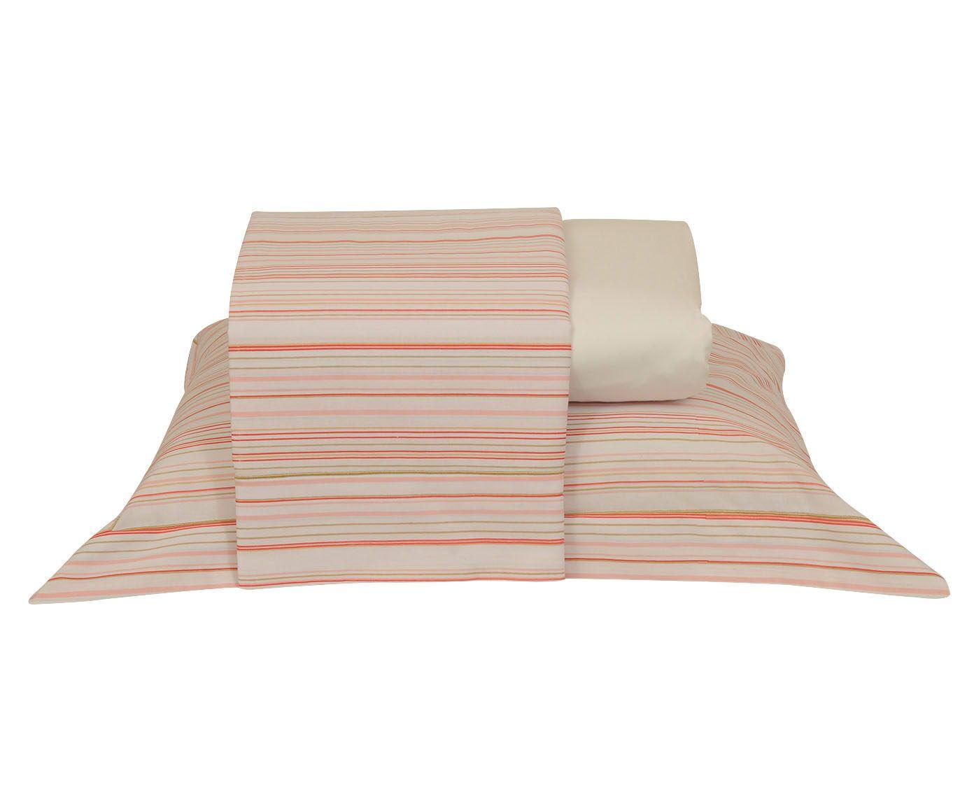 Jogo de lençol versatt stripes para cama de casal 150 fios - ritz   Westwing.com.br