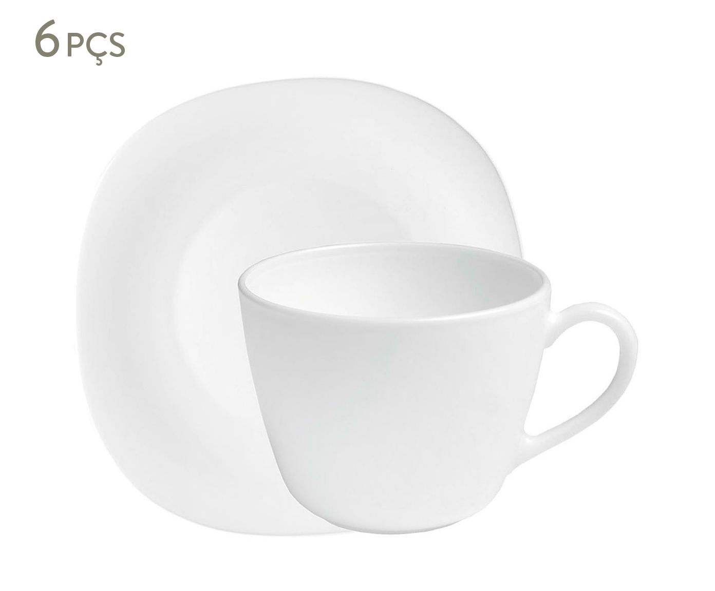Jogo de Xícaras para Chá com Pires Parma - 220ml | Westwing.com.br