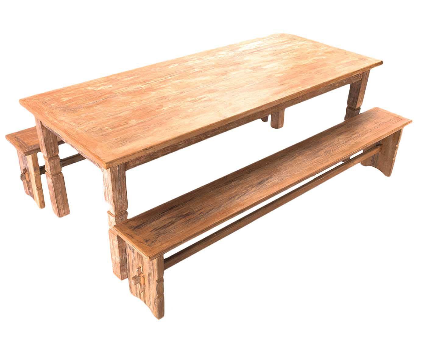 Mesa com bancos telurio - carino | Westwing.com.br