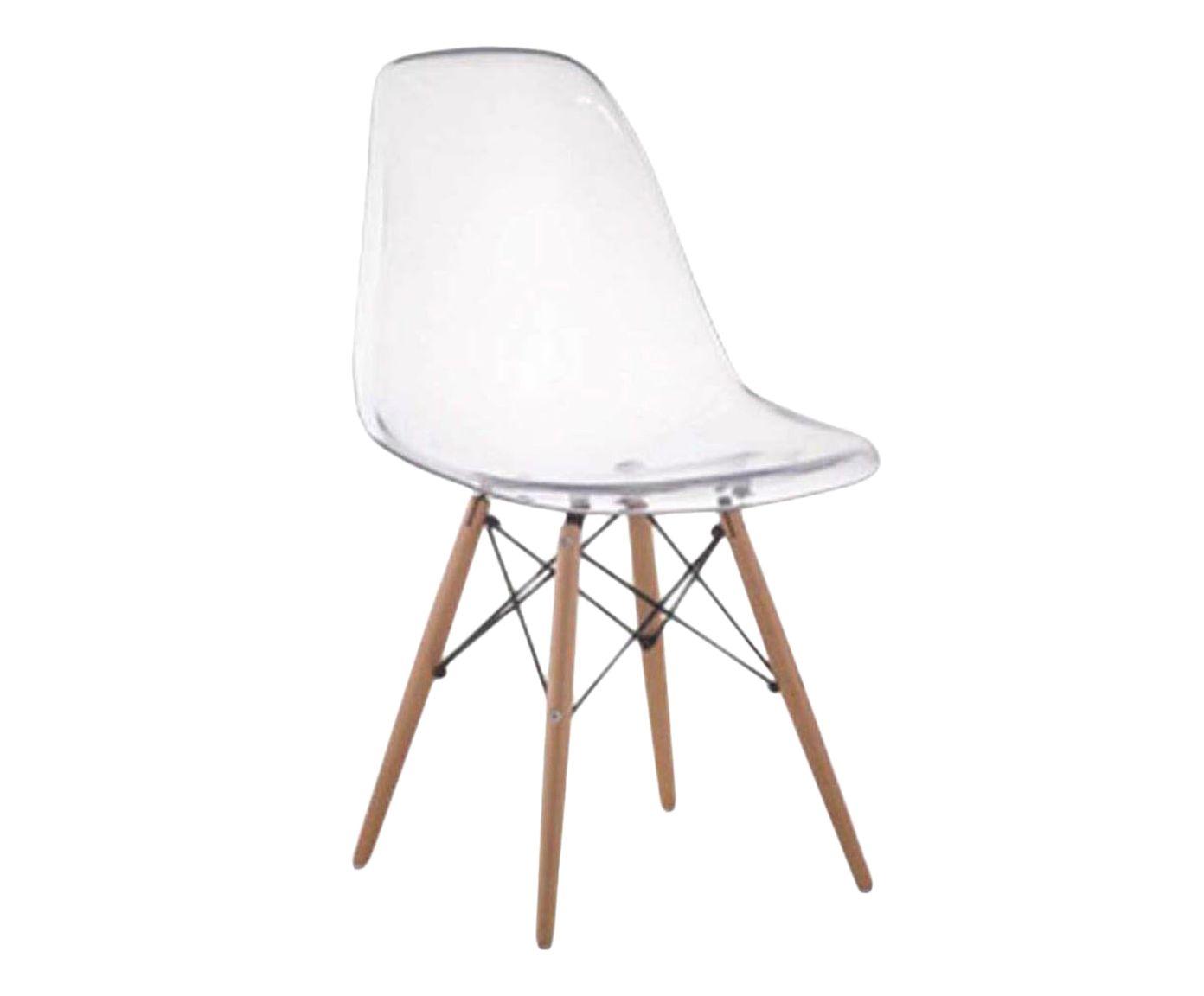 Cadeira Eames Wood Transparente - 52X83cm | Westwing.com.br