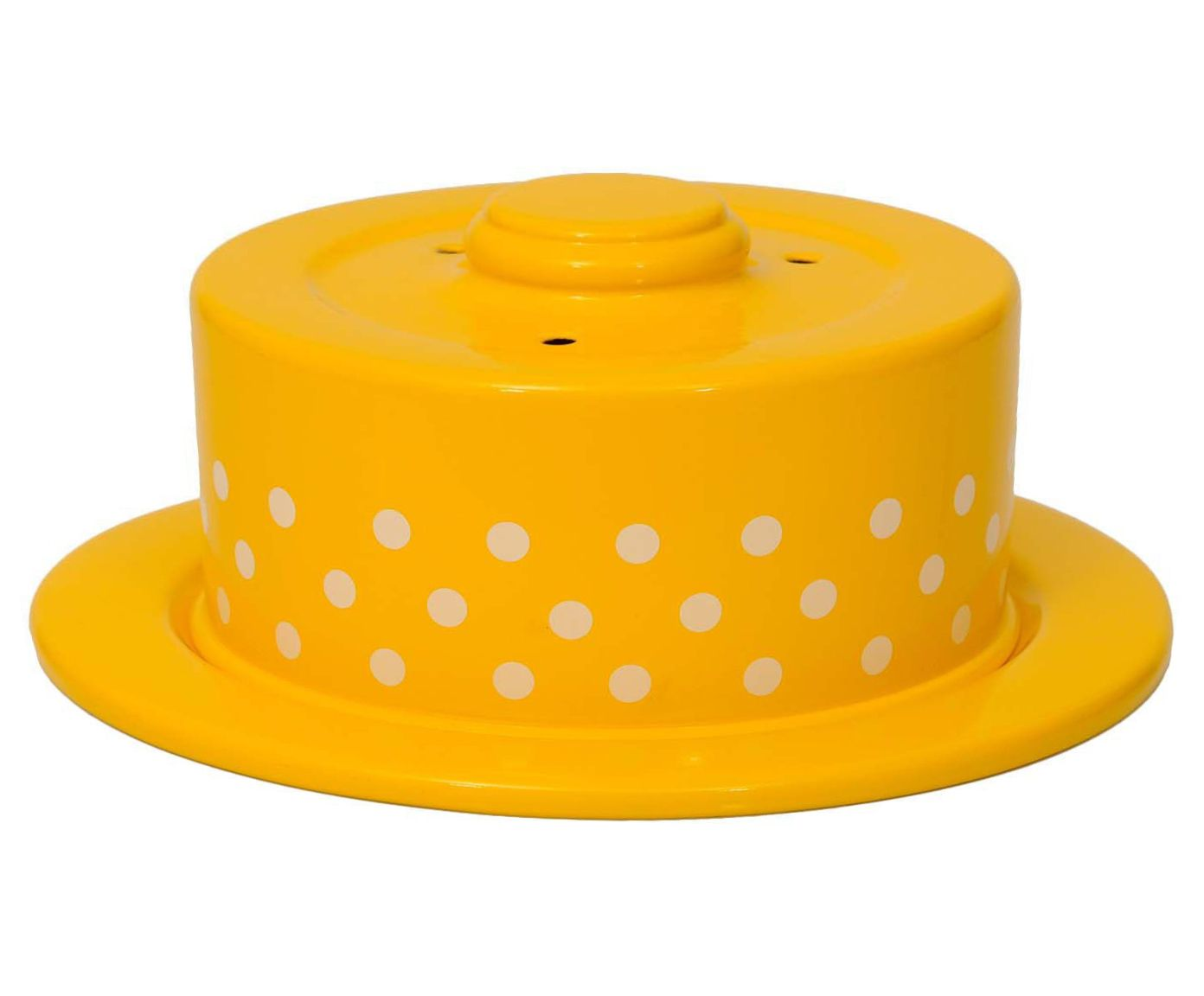 Boleira Polka Dots - Amarela e Branca   Westwing.com.br