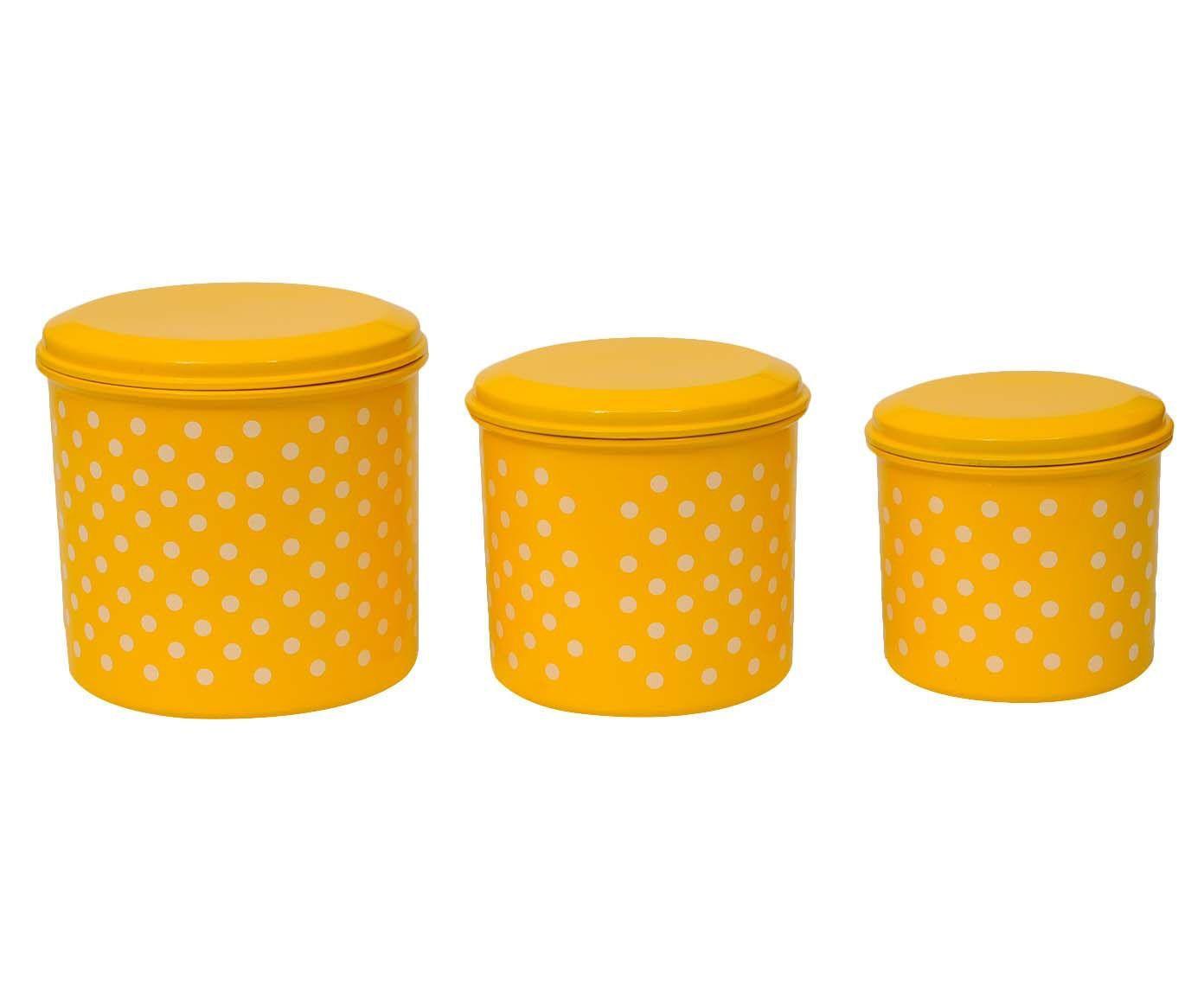 Jogo de Porta-Condimentos Polka Dots - Amarelo e Branco | Westwing.com.br