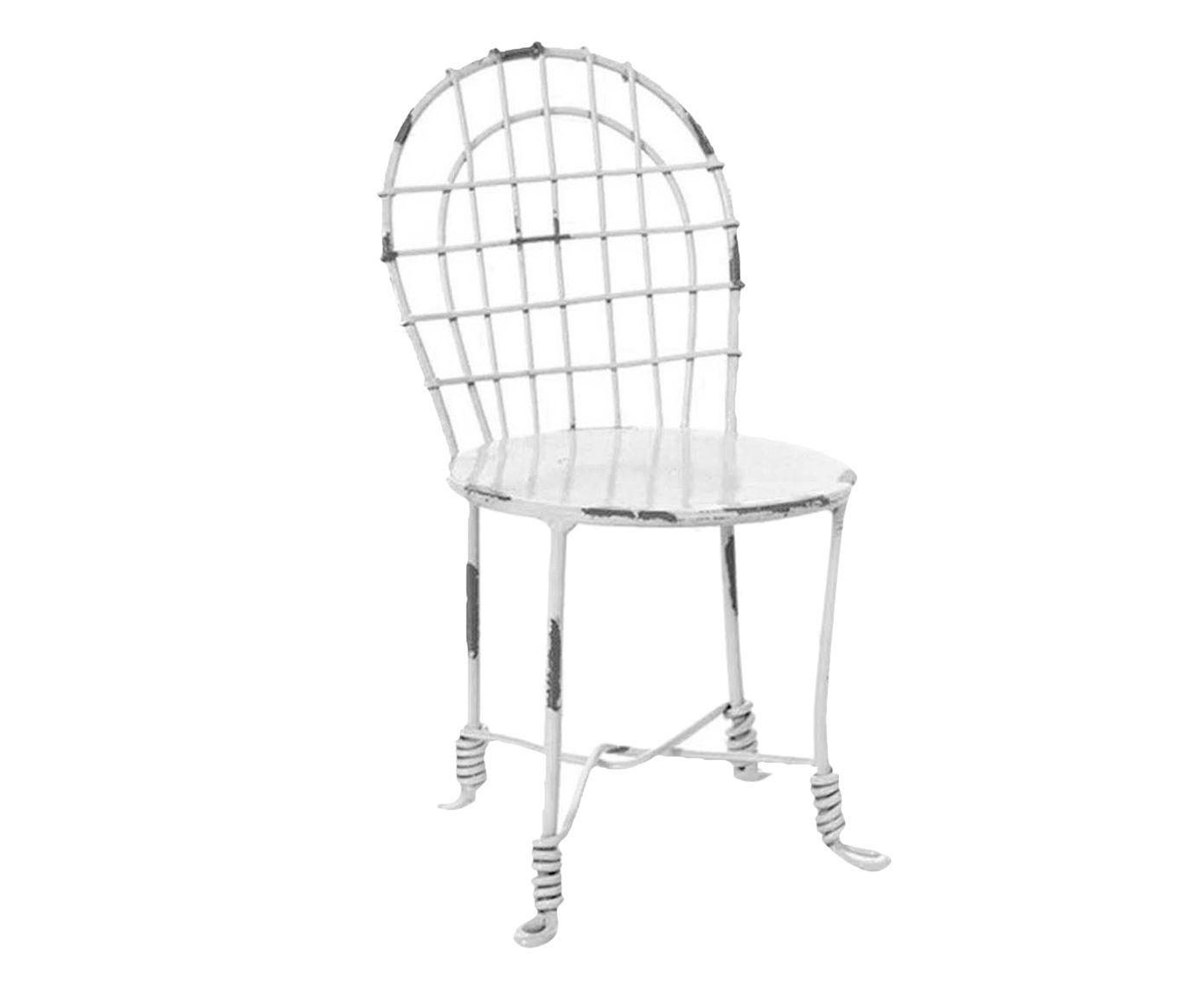 Miniatura Cadeira de Jardim Branca - 12X23cm | Westwing.com.br