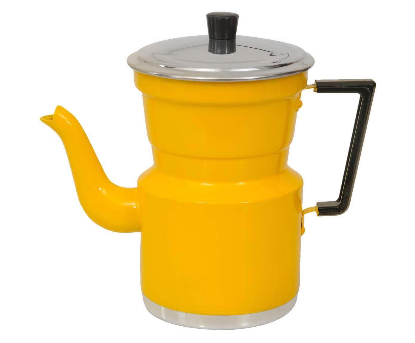 Cafeteira Slim Amarela - 1,5L   Westwing.com.br