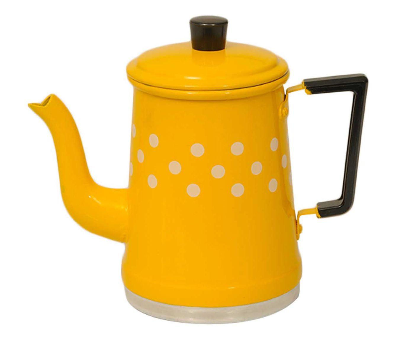 Bule Polka Dots Amarelo e Branco - 1L | Westwing.com.br