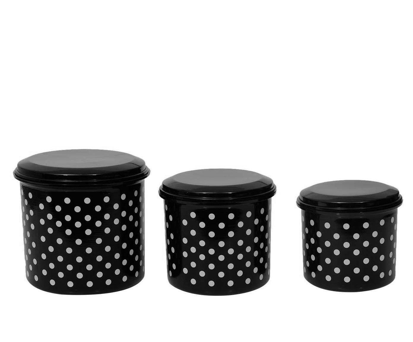 Jogo de Porta-Condimentos Polka Dots - Preto e Branco | Westwing.com.br