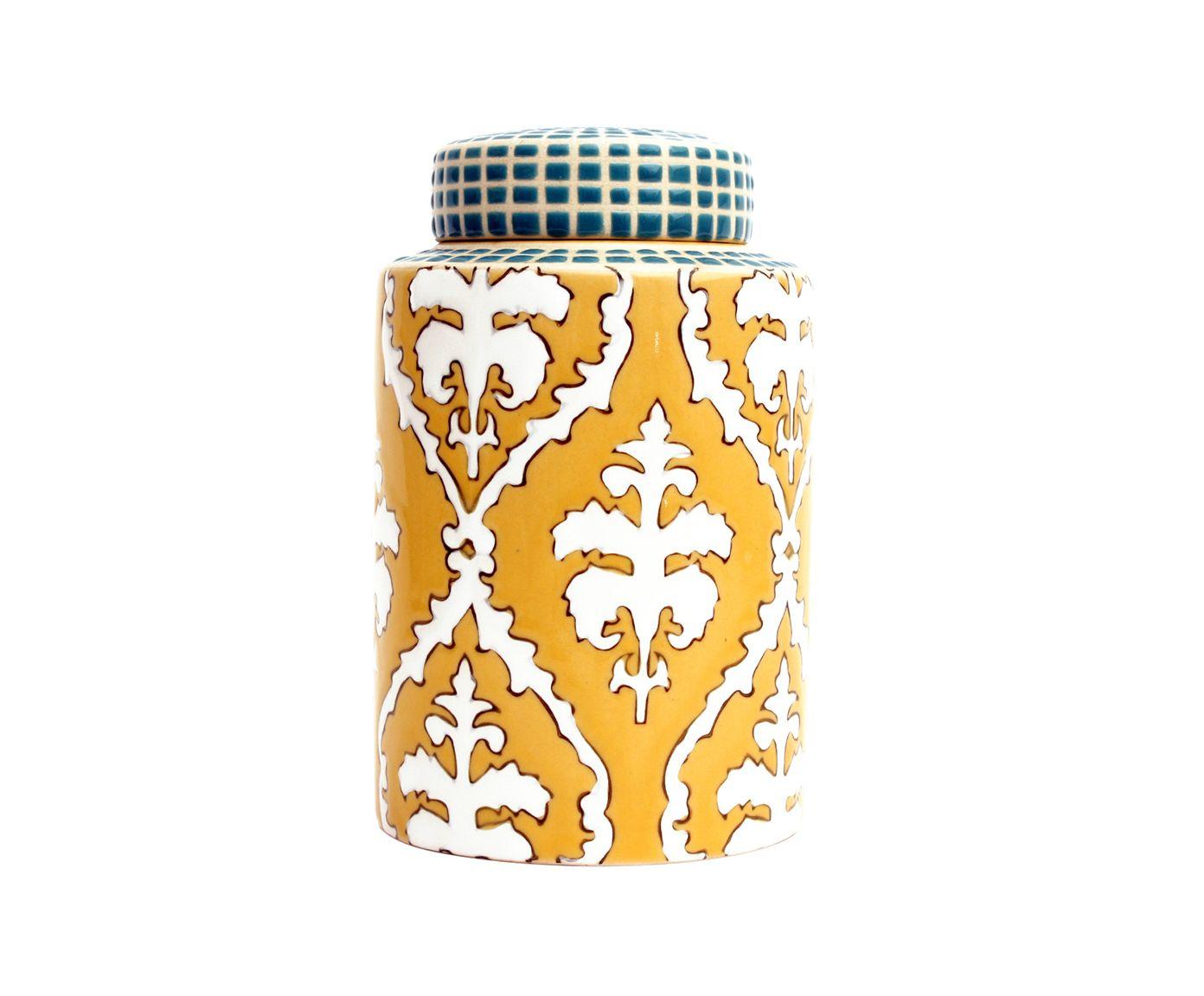 Pote Decorativo em Porcelana Flor de Lis | Westwing.com.br