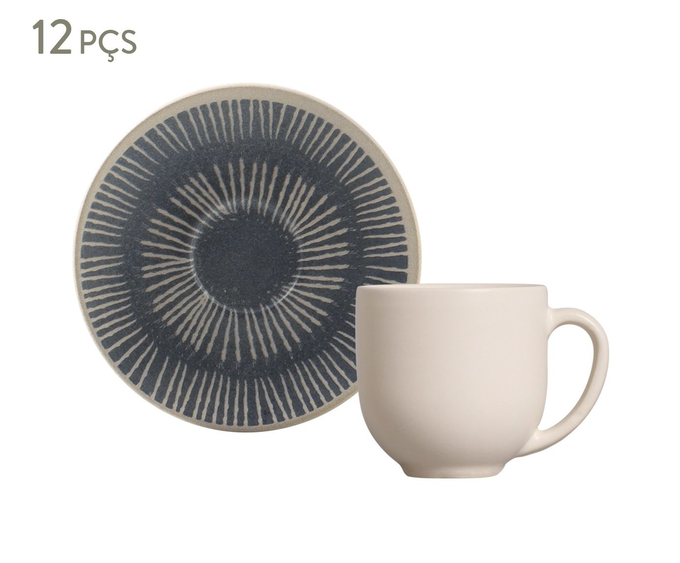 Jogo de Xícaras para Café com Pires Coup Florescer - 112ml   Westwing.com.br