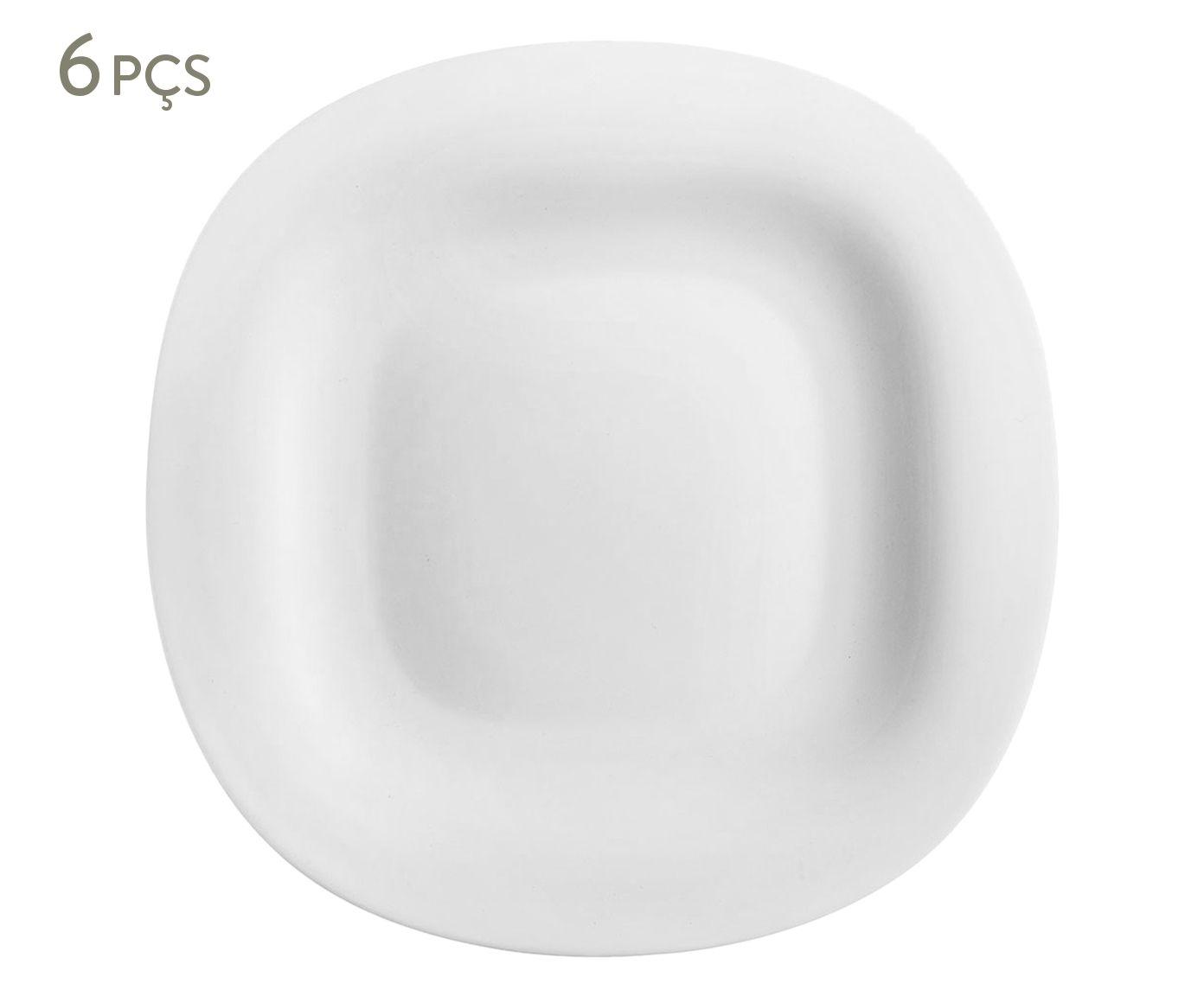 Jogo de Pratos Rasos Carine Branco - 27X2,3cm   Westwing.com.br