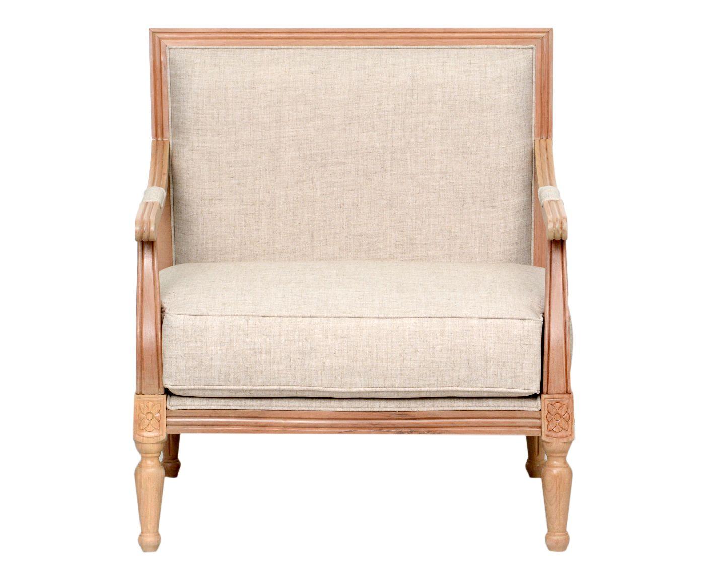 Cadeira em Linho Classic Cru - 77X86X67cm   Westwing.com.br