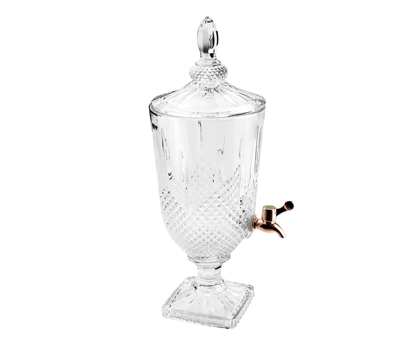 Suqueira em Cristal Ecológico Diamante Rosê - 3L | Westwing.com.br