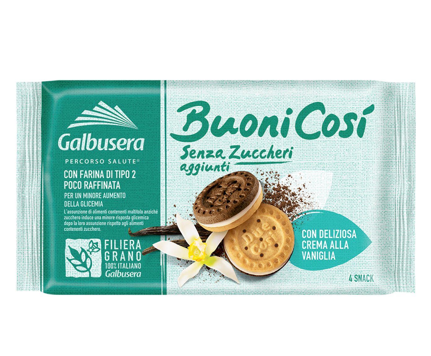 Biscoito Recheado com Creme de Baunilha Buono Cosi - 160G   Westwing.com.br