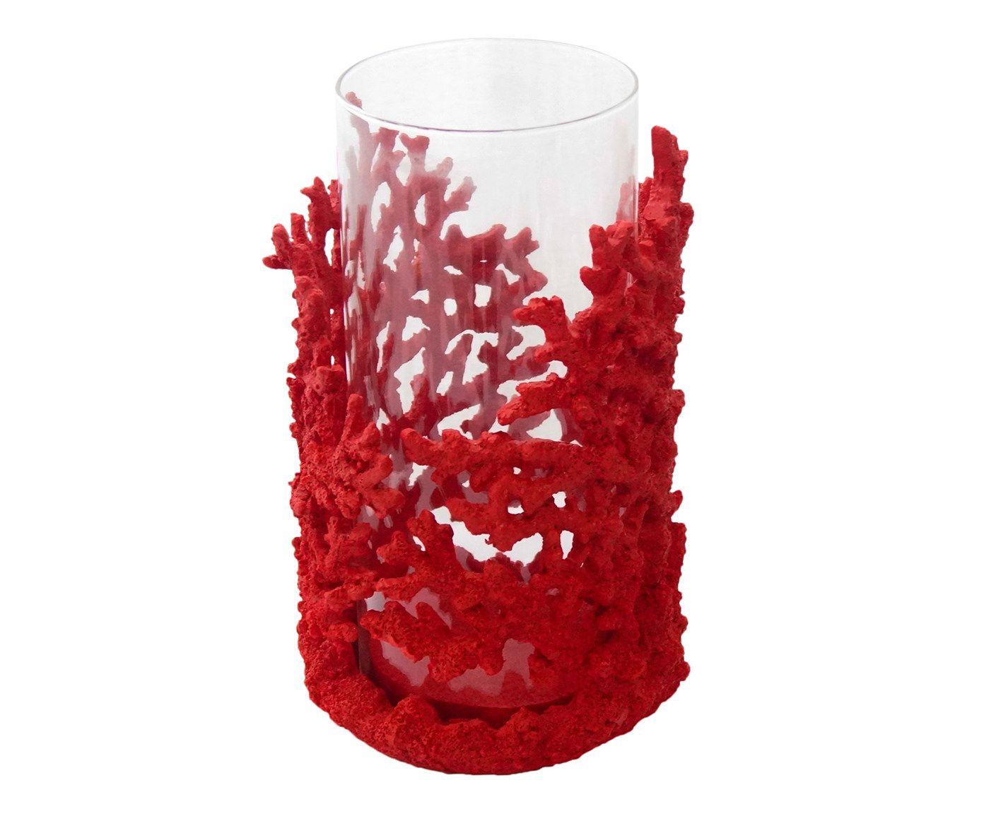 Porta-Vela Decor Vermelho - 16X25X13cm   Westwing.com.br
