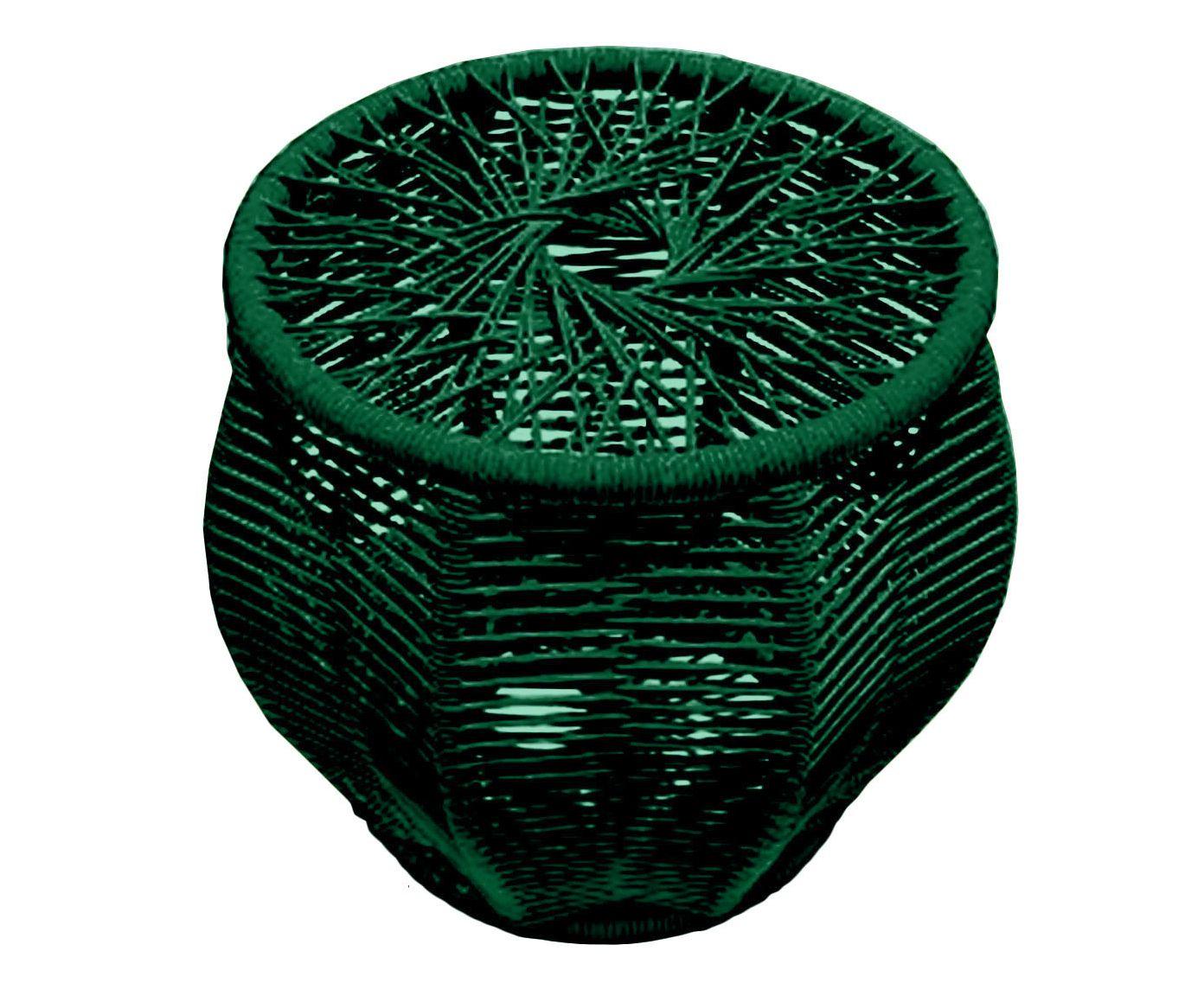 Pufe Carambola Verde Escuro - 51X54X55cm | Westwing.com.br
