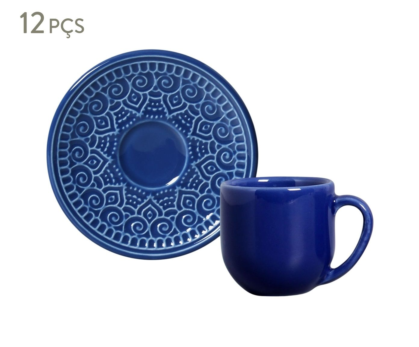 Jogo de Xícaras para Café com Pires Agra Azul Navy - 112ml | Westwing.com.br